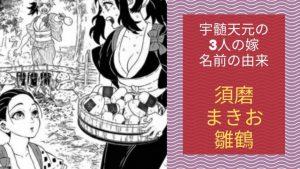 天元と3人の嫁(須磨・まきを・雛鶴)の名前の由来は紫式部の「源氏物語」に関連